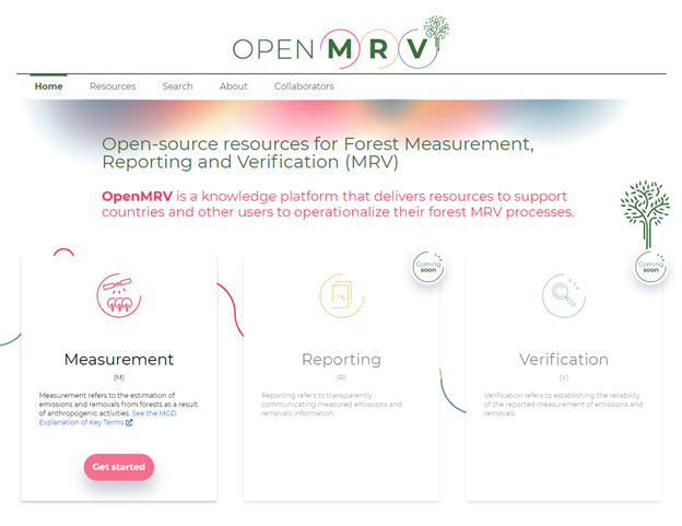 The OpenMRV website has resources available for supporting Measurement processes, with Reporting and Verification releasing soon.